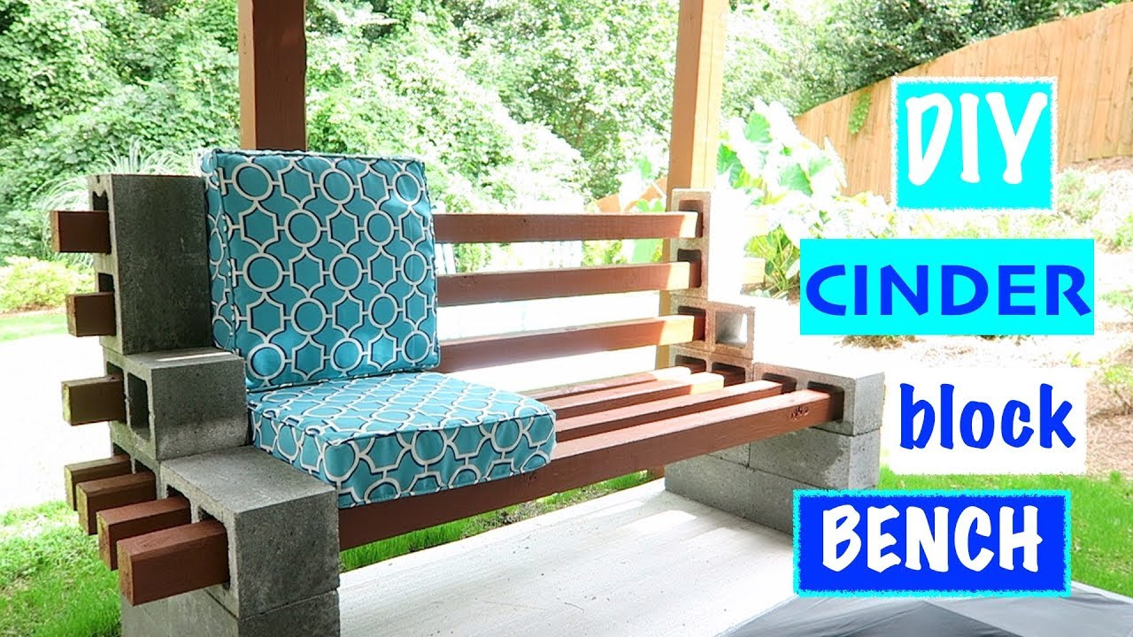 Design Cinder Block Bench urban chic cinder block youtube block