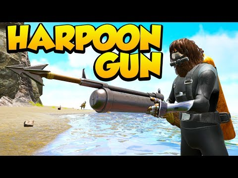 TESTING THE NEW HARPOON GUNS! - PLESIOSAUR TAMES - Ark Survival Evolved Island No Fliers PVP #20