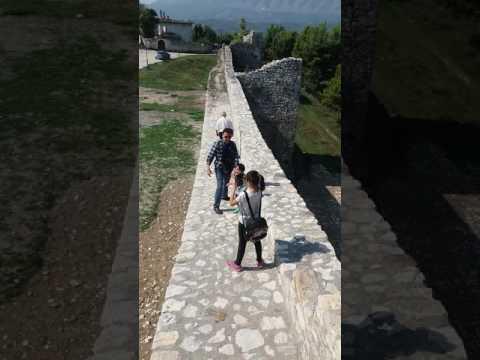 Berat Castle walking