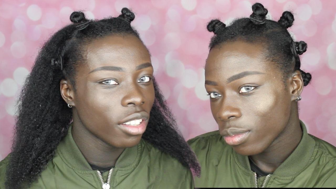 Bantu Knot Tutorial For Long Natural 4c Hair Youtube
