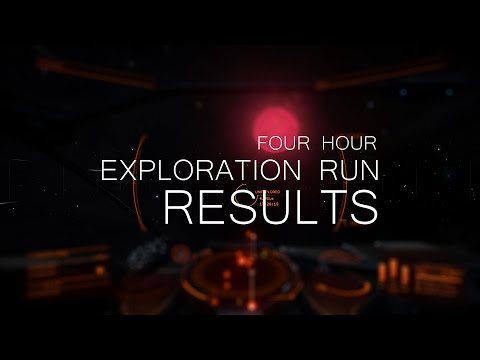 Elite Dangerous: Results from a four hour exploration run