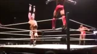 Cesaro Delayed Vertical Suplex While Doing Squats And Making a Tag