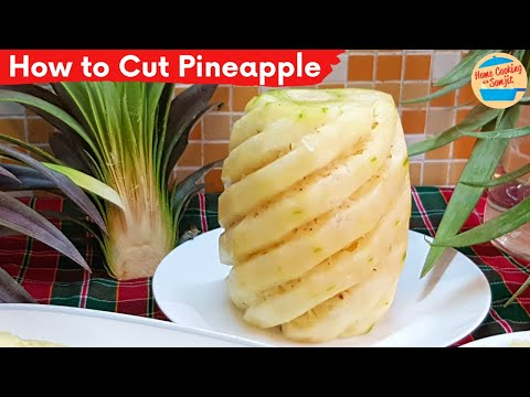 How to Cut & Remove Pineapple Eyes