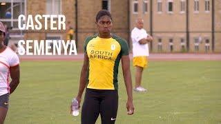 Training shots of Caster Semenya