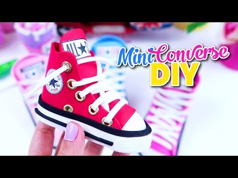 DIY MINIATURE CONVERSE Sneakers - Shoes Pen Holders - Isa's World