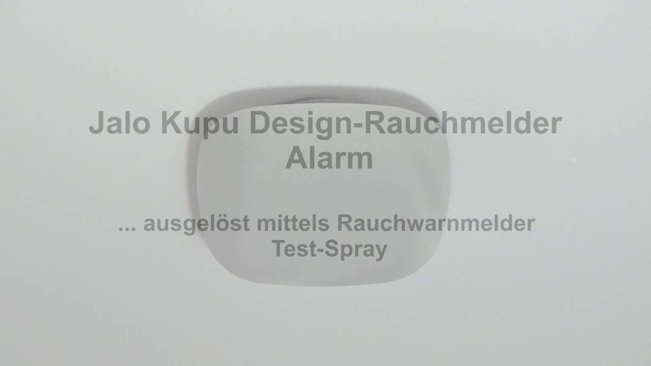 Jalo Kupu Design Rauchmelder Testfunktion Und Ausgeloster Alarm