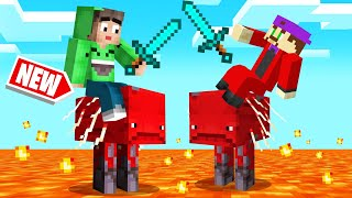 WALKING On LAVA With NEW MOBS In MINECRAFT! (Insane)