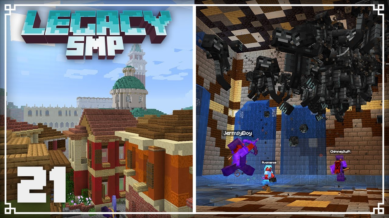 Legacy SMP   Fighting 260 withers & World Tour!    Minecraft 1.16 Survival Multiplayer