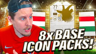 THE BEST ICON PACK?! 8X GUARANTEED BASE ICON PACKS! FIFA 21 Ultimate Team