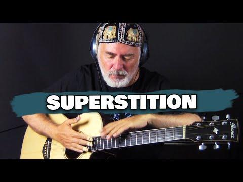 Stevie Wonder Superstition – solo acoustic fingerstyle guitar