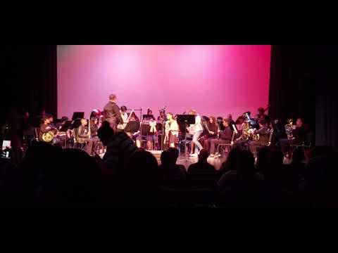 Desert Springs Middle School bands at DHSHS Winter concert 2019