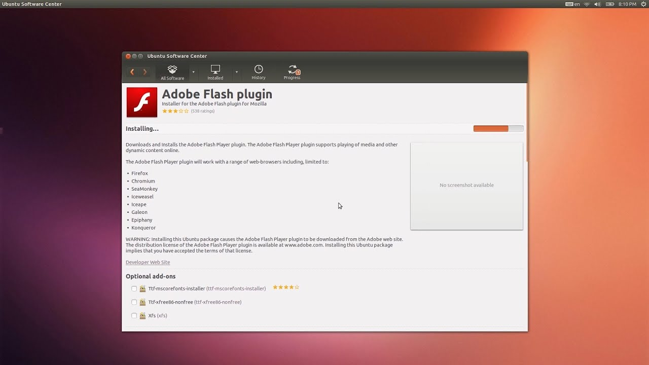 install flash firefox linux libflashplayer.so