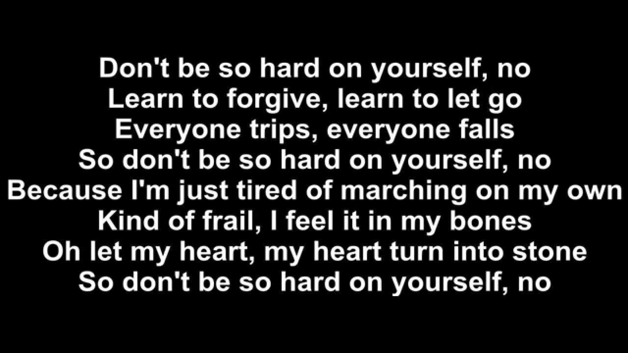 Jess Glynne - Don't Be So Hard On Yourself Lyrics - YouTube