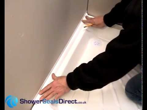 How To Seal Your Shower Tray Perfectly With Sealux Reg 25 Shower Seal,  Installation Video   YouTube