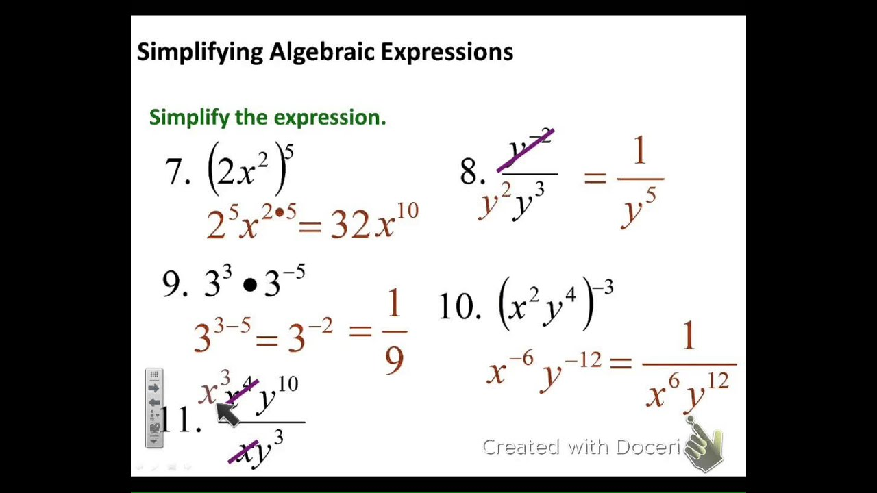 worksheet Basic Polynomial Operations 6 1 and 3 exponents polynomial operations youtube operations