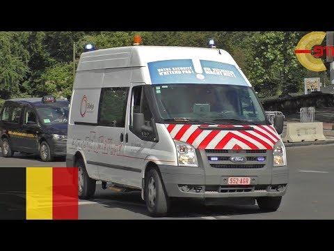 [BRUSSELS] Gas Company 'Sibelga' Responding - Lights And Siren - Ford Transit