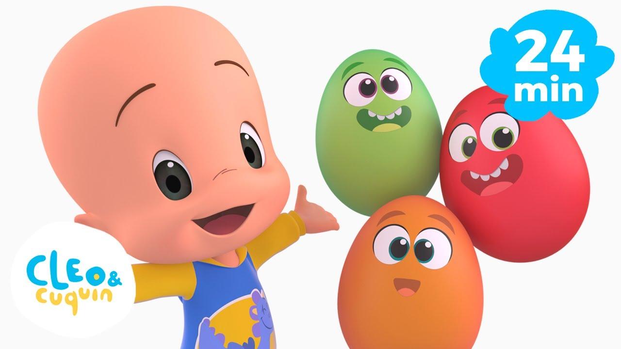 Download Huevos sorpresa: aprende vehículos y colores y mucho más con Cleo y Cuquin | Familia Telerin