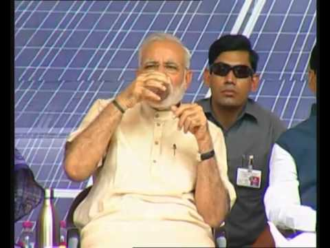 Narendra Modi in Jharkhand - Inaugurates rooftop solar power plant