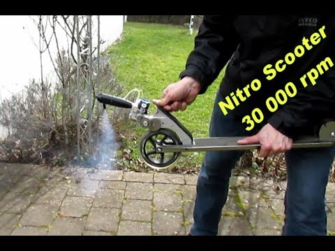 How to motorize a Stunt Scooter - Engine Capacity 0.049 CI / 0.8 cc - 30.000 rpm