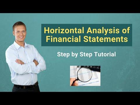 Horizontal Analysis of Financial Statements