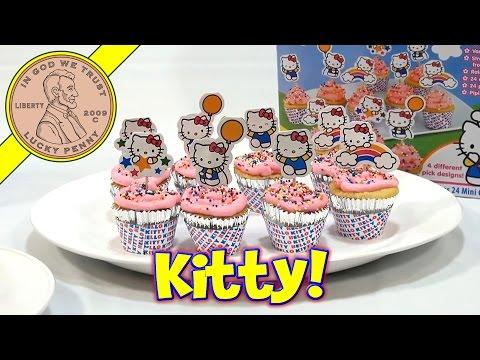 Hello Kitty 24 Mini Cupcake Party Baking Kit, Sanrio