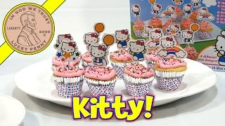 Hello Kitty 24 Mini Cupcake Party Baking Kit, Sanrio