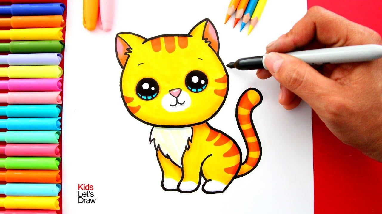 Aprende A Dibujar Un Gato Atigrado Estilo Kawaii De Manera Fácil Youtube
