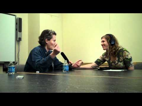 Temple Grandin visits with Wyoming Public Radio in College of Agriculture Building