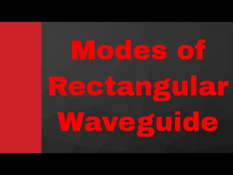 Modes in Rectangular Waveguide in Microwave Engineering by Engineering Funda, Waveguide, Microwave