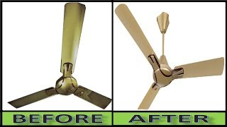 Without Stool, Bench and Without Ladder-How To Clean Dusty Ceiling Fan in 57 Seconds