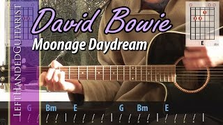 David Bowie - Moonage Daydream | acoustic guitar lesson