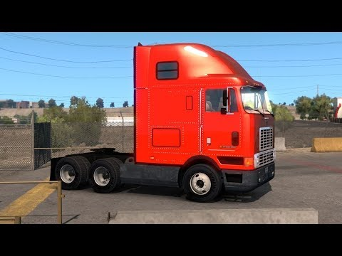 American Truck Simulator New Mexico DLC - Albuquerque - International 9800i Pipes Transport