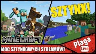 HORDA SZTYNXOWYCH STREAMÓW! (Minecraft Sztynx #63)   PlagaLive