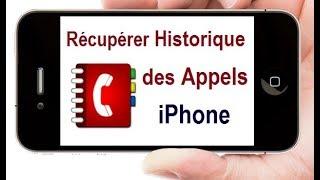 Récupérer l'historique des appels iPhone
