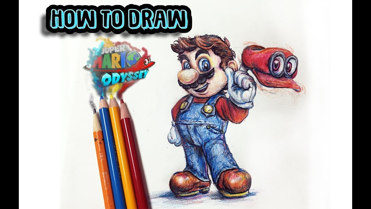 I Speed Draw Mario Odyssey Amp Cappy Under 2 Minutes