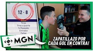 ZAPATILLAZO EN LA CARA POR CADA GOL EN CONTRA!!! RETO EN FIFA 18 CON BYDIEGOX10 | MGN