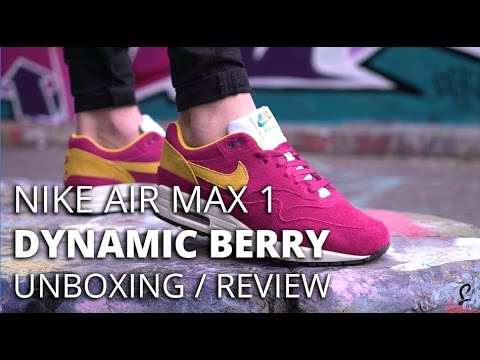 Nike Air Max 1 Dynamic Berry Review Unboxing