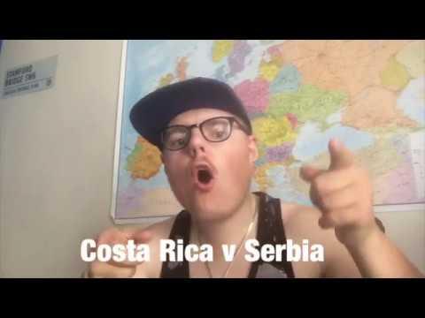 costa rica v serbia reaction