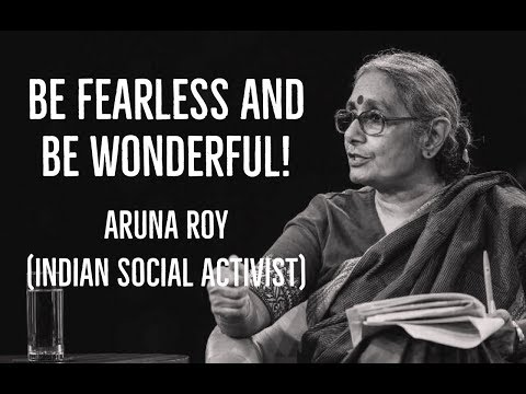 Most Inspiring Talk By Aruna Roy - The Iron Lady Who Brought Down The Corrupts | Great Indian Minds