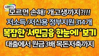 정부지원 저소득층 저신용 대출 목돈저축 314개 복잡한…