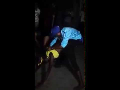 Jamaican dancer showing daggering skills - YouTube
