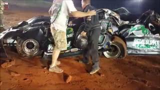 #00 Ruben Mayfield - Late Model - Flip/Wreck - 8-26-16 - I-75 Raceway - In-Car Camera