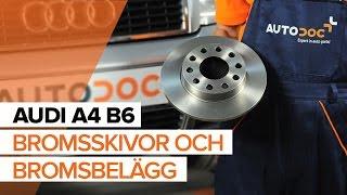 Montera Bromsbelägg bak och fram AUDI A4 (8E2, B6): gratis video