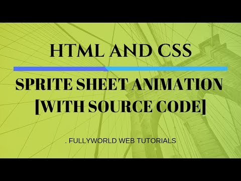 CSS SPRITE SHEET ANIMATION | CSS Animations | HTML And CSS  Tutorials