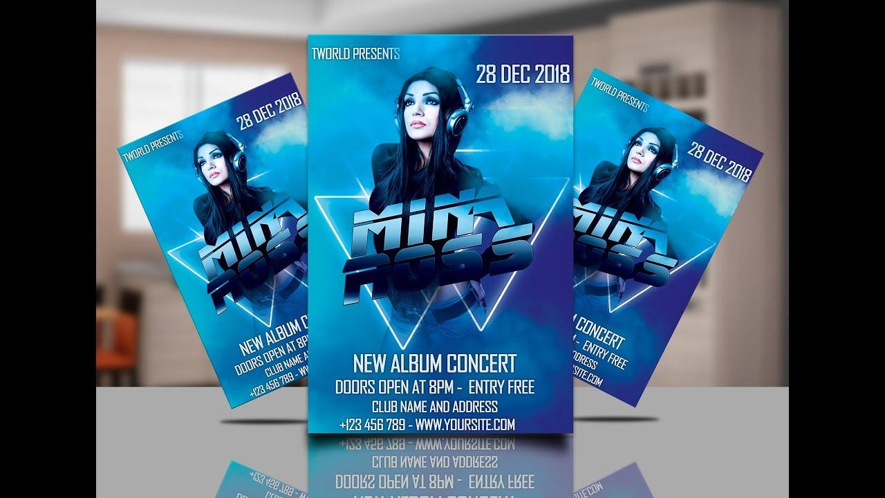 Affiche Concert comment faire une affiche de concert ( how to make flyer ) - youtube