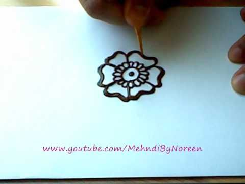 How To Draw A Henna Flower Part 1 Youtube