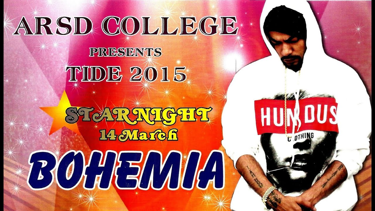 BOHEMIA LIVE ARSD COLLEGE NEW DELHI 2015 HD