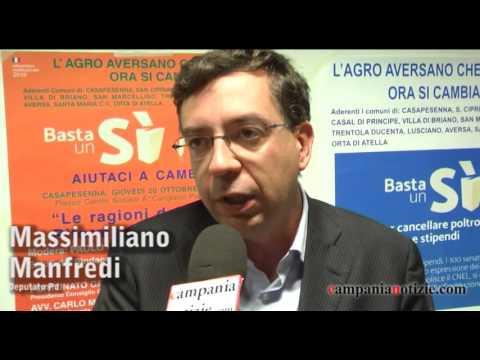 Referendum, Manfredi a Casapesenna: attenti a falsa propaganda