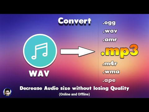 Convert wav to mp3 - Online and Offline - wav to mp3 conversion