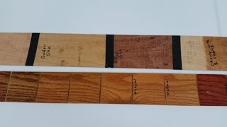 Wood Stain Color Board